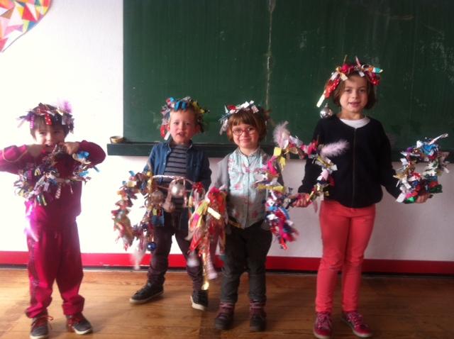 Atelier couronnes de Noël en tissus
