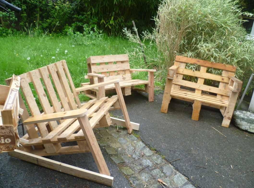 Mobilier de jardin à partir de palettes de bois